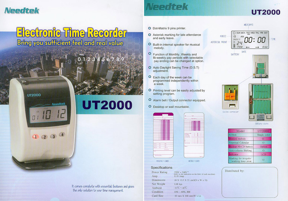 UT-2000 Series Time Recorder